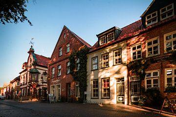 Alte Häuser in Aurich in Ostfriesland von Edith Albuschat