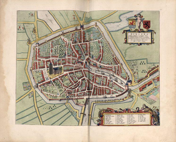 Zierikzee, Stadsplattegrond Joan Blaeu 1652 van Atelier Liesjes