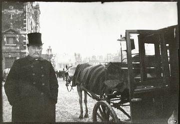 Paarden met rijtuig op het Leidseplein, George Hendrik Breitner