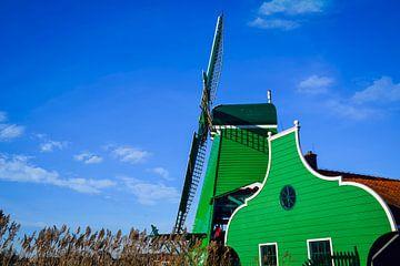 Houtzaagmolen aan de Zaanse Schans, Nederland van