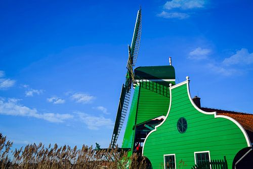 Houtzaagmolen aan de Zaanse Schans, Nederland