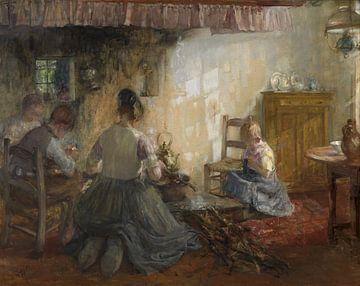 Interieur mt Frau und Kind, Pierre Jacques Dierckx