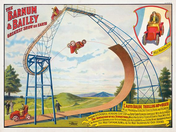 Affiche uit 1905: The Barnum and Bailey greatest show on earth