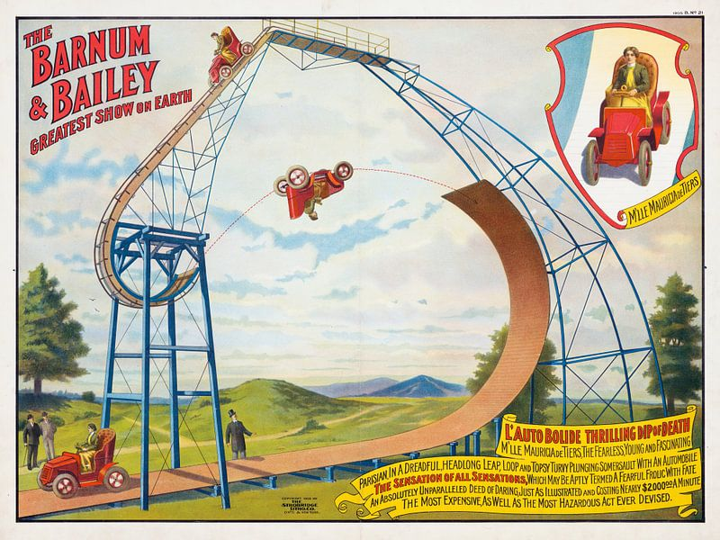Affiche uit 1905: The Barnum and Bailey greatest show on earth van Nic Limper