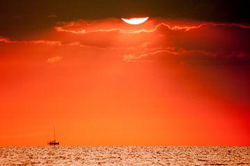zonsondergang aan het water sur Lex Scholten