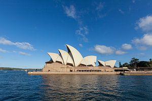 Australië, Sydney CBD. Oriëntatiepunt rond Sydney Harbour view vanaf Harbour Bridge uitkijk op een z