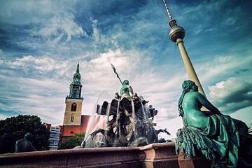Berlin - Neptune Fountain van Alexander Voss