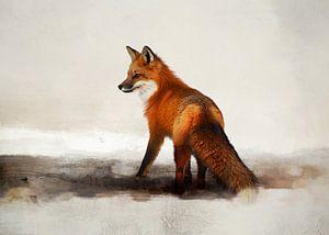 Fuchsmalerei mit Rotfuchs