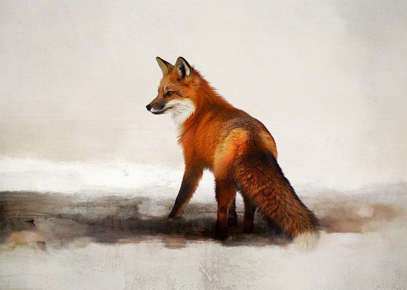 Fuchsmalerei mit Rotfuchs von Diana van Tankeren