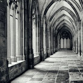 In de kloostergangen van de Pandhof van de Domkerk in Utrecht. sur De Utrechtse Grachten