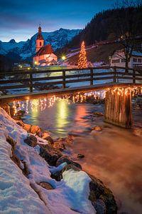 Kerstmis in Ramsau van Martin Wasilewski