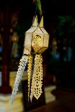 Thaise hangende lichte papieren lantaarn