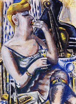 Die Musikantin in der Pause (Essende, Damenkapelle), Paul Kleinschmidt,  1944 von Atelier Liesjes