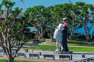 Centre ville de San Diego, États-Unis. Célèbre baiser. sur Patrick Vercauteren