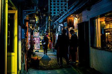 Nächtliche Gassen in Seoul von Mickéle Godderis