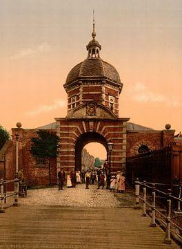 Delftse Poort, Leiden sur Vintage Afbeeldingen