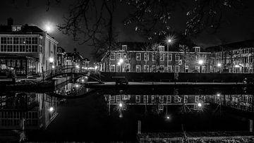 Witte singel Leiden van Dirk van Egmond