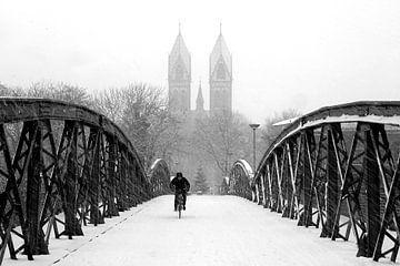 Winter in Freiburg van Patrick Lohmüller