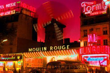 Parijs Moulin Rouge 1965 van Timeview Vintage Images