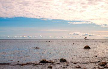avondrood op het deense eiland Møn van Hanneke Luit
