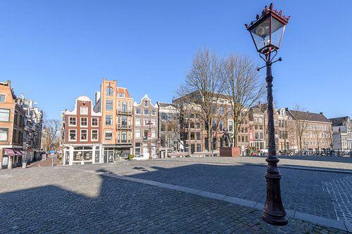 Bijna verlaten Torensluis-brug aan het Singel in Amsterdam