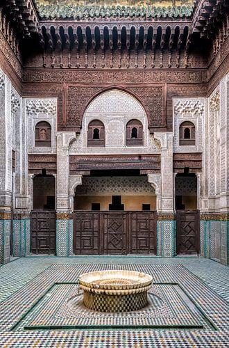 Oude Koranschool in Meknes, Marokko