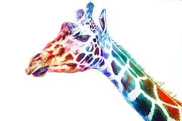 Expressionisme Andy Warhol Pop Art - Kunst Stijl Giraffe van Jakob Baranowski - Off World Jack