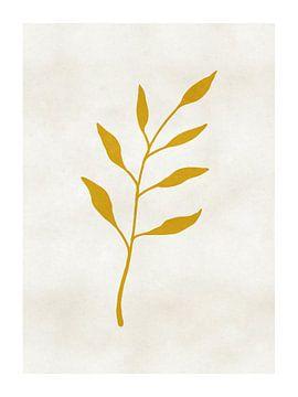 Gold Leaf Rustieke Print van MDRN HOME
