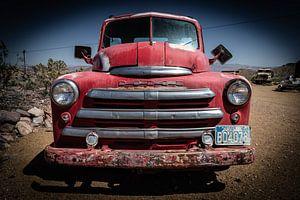 Oude auto Dodge van
