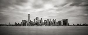 New York - Manhattan skyline in zwartwit