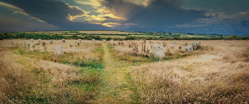 Steinkreis in Cornwall, Südengland von Rietje Bulthuis