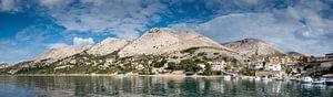 Berglandschap van Krk eiland, Kroatië van