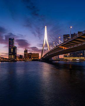 Zonsopkomst in Rotterdam van Jeroen Bukman