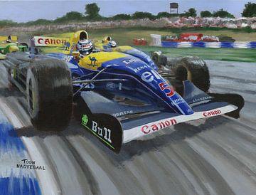 1992 Großer Preis von Großbritannien in Silverstone von Toon Nagtegaal von Adam's World