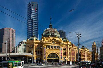 Melbourne Flinders Street Station van Tessa Louwerens
