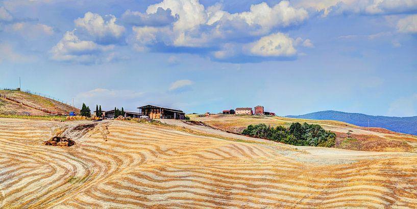 Toscane Panorama Landschap van Hendrik-Jan Kornelis