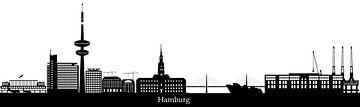 de skyline van de duiste stad hamburg met de televisietoren en architectuur