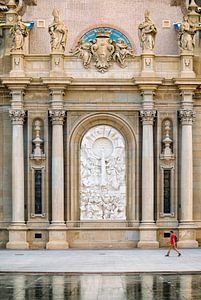 Close up of Pilar Cathedral in Zaragoza, Spain