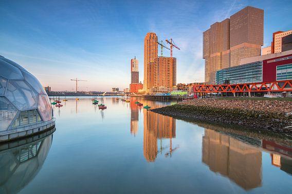 Rijnhaven reflecties van Ilya Korzelius