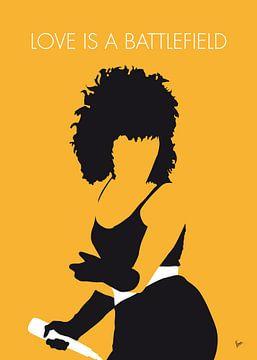 No304 MY Pat Benatar Minimal Music poster van Chungkong Art