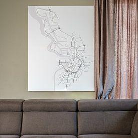 Kundenfoto: Antwerpen von Drawn by Johan, auf leinwand