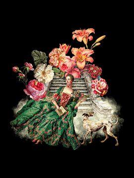 Marie Antoinette - Königin von Frankreich auf Blumentreppe von Uta Naumann