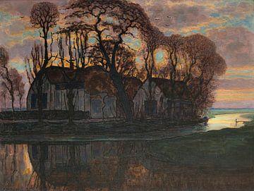 Bauernhof bei Duivendrecht, abends, Piet Mondriaan