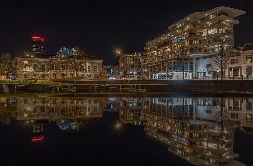 Leeuwarden  at night van Kevin Boelhouwer