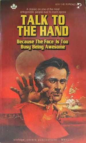 Talk To The Hand van Vintage Covers
