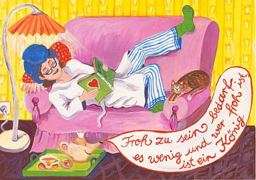 Frohes Sofa von Dorothea Linke