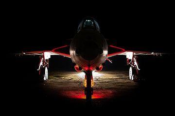 Hawker Hunter bij nacht van Kris Christiaens
