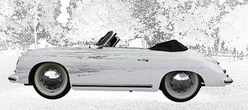 Porsche 356 A 1500 Super in graphit von aRi F. Huber