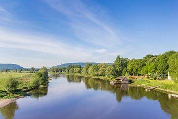 Fluss Weser im Weserbergland in Deutschland von Marc Venema