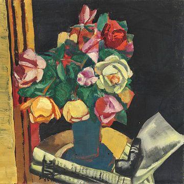 Stilleben mit Rosen, MAX BECKMANN, 1927 von Atelier Liesjes